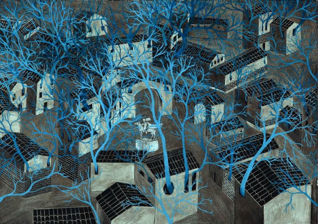 Il raffinatissimo villaggio in blu dell'iraniano Sharif Amin Hassanzadeh