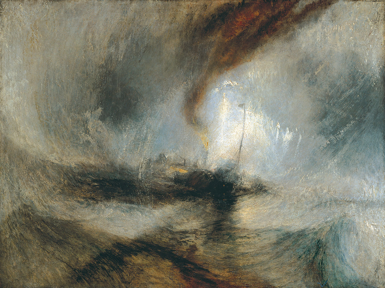 """Snow Storm: Steam-Boat off a Harbour's Mouth"" - JMW Turner"