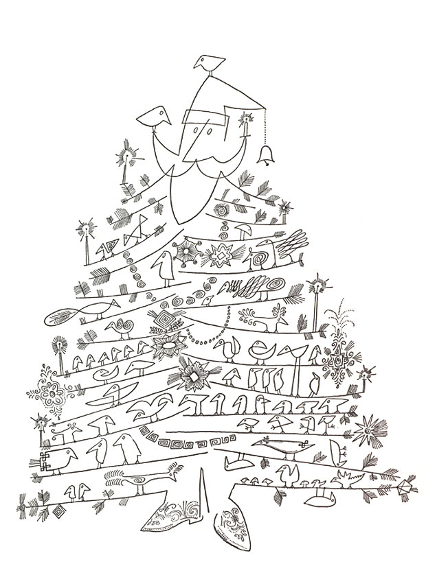 steinberg_1949_santa_claus_as_christmas_tree